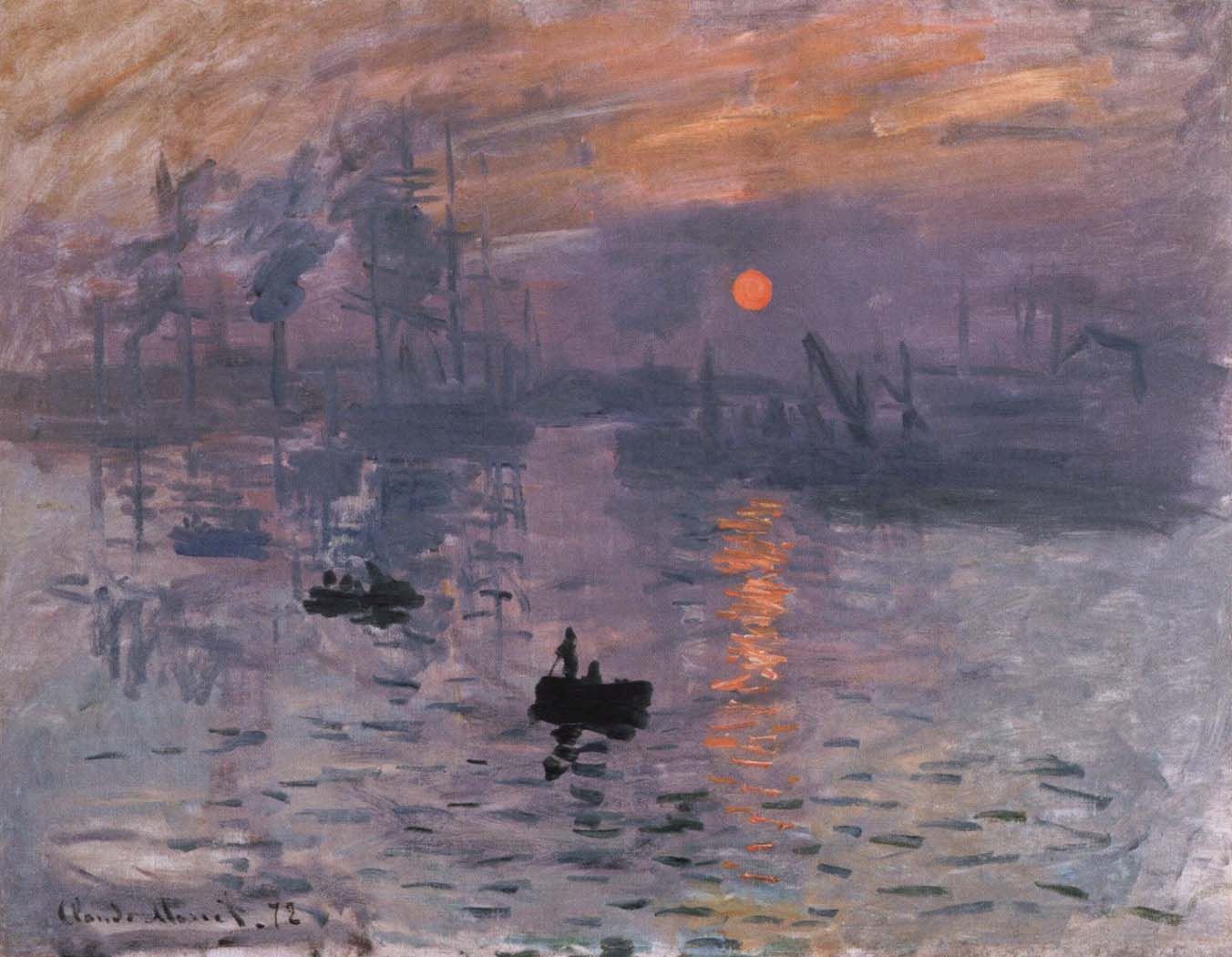 impression,sunrise Claude Monet Framed Wholesale China Oil ...