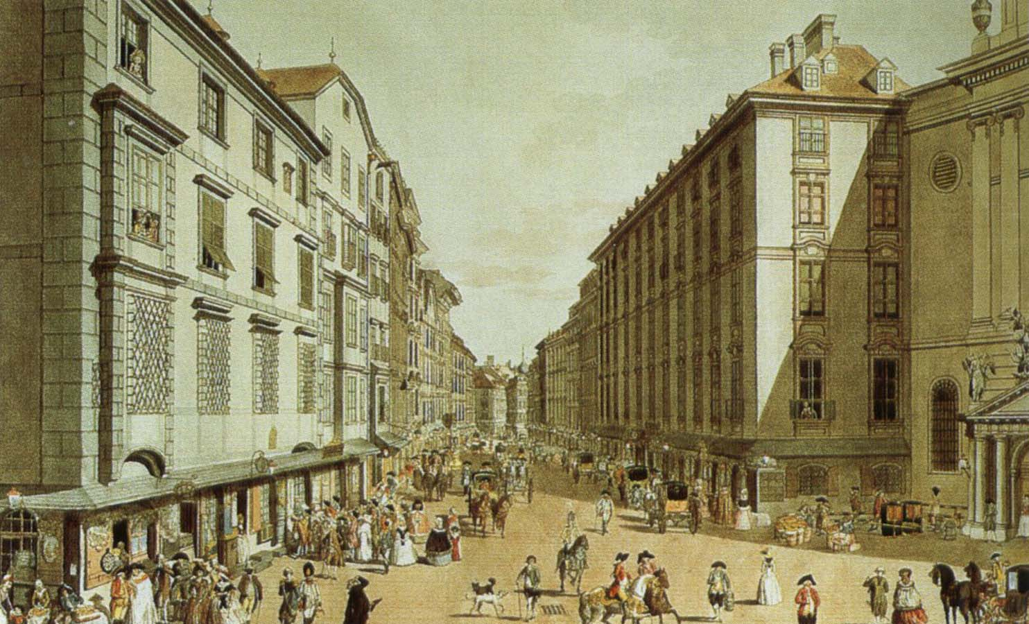 Vienna In The 18th Century A View Of One Of Its Streets