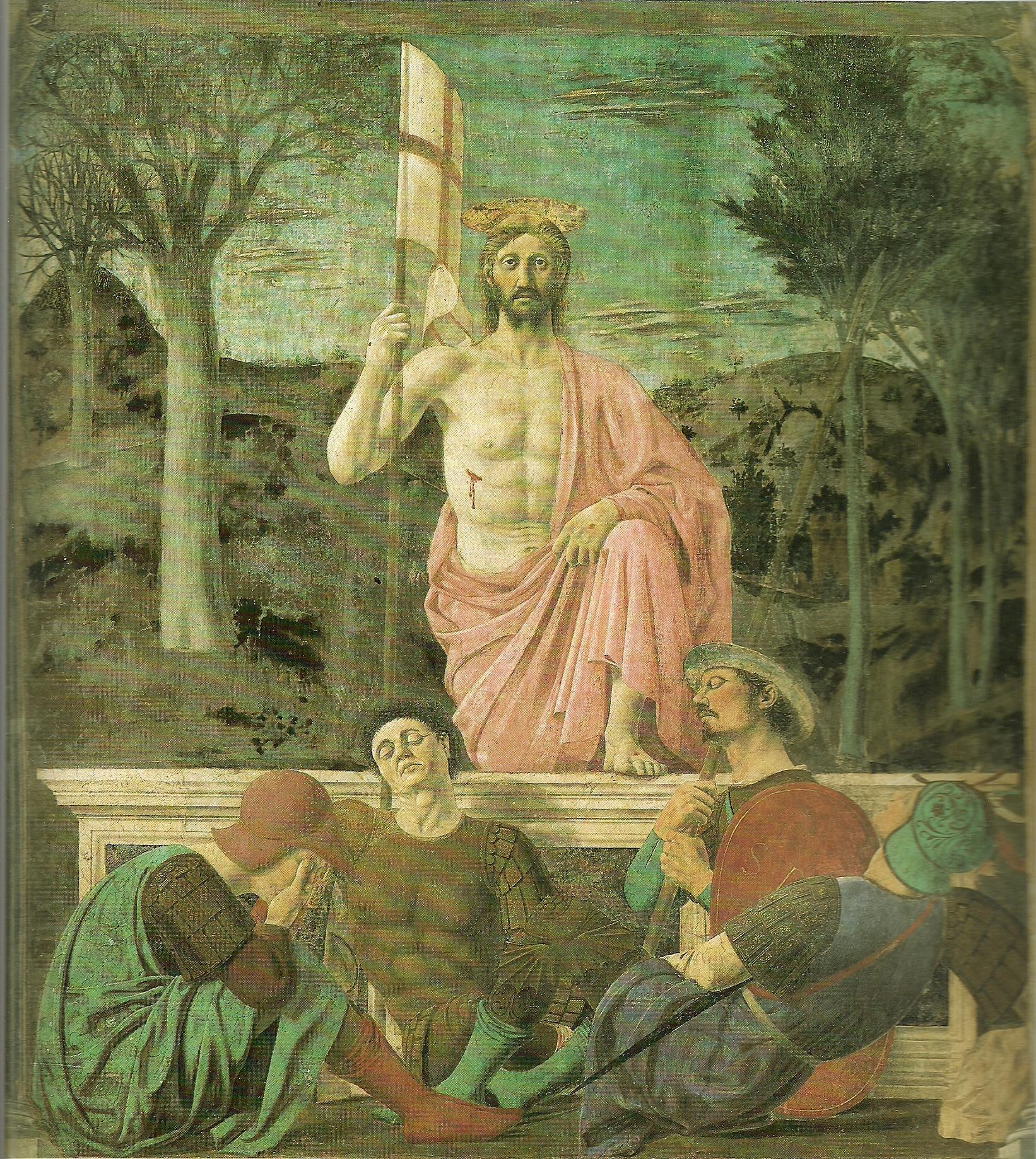 基督复活The Resurrection(视频)皮耶罗·德拉·弗朗西斯卡Piero della Francesca - 水木白艺术坊 - 贵阳画室 高考美术培训