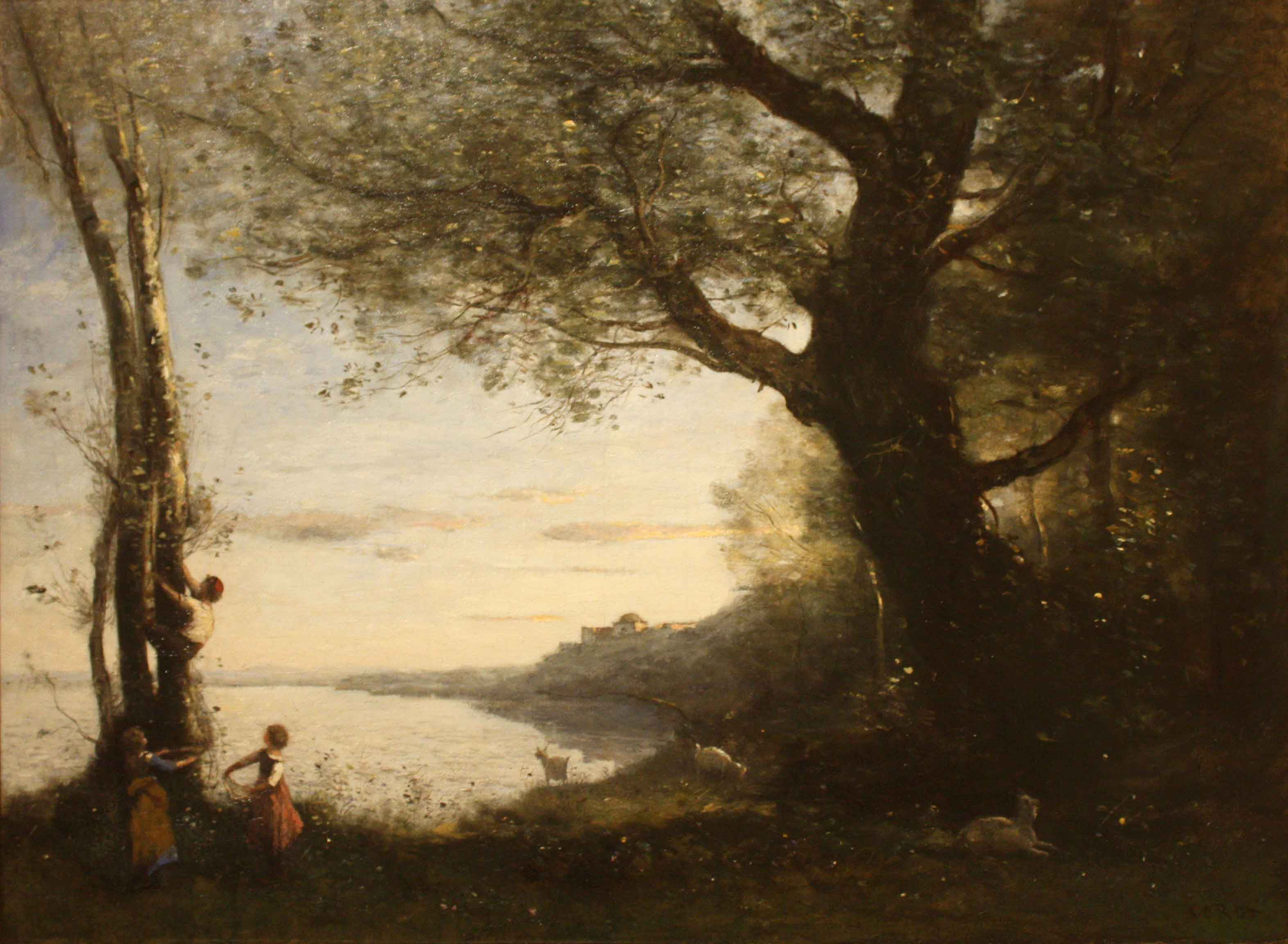 The willows of marissel jean baptiste camille corot for Camille corot