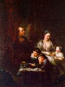 Anton  Graff The Artist's Family before the Portrait of Johann Georg Sulzer china oil painting artist
