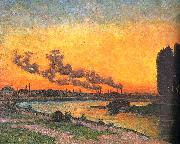 J B Armand  Guillaumin Sunset at Ivry oil painting reproduction