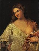 Titian Flora oil painting reproduction