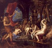Titian Diana and Actaeon oil on canvas