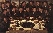 ANTHONISZ  Cornelis Banquet of Members of Amsterda  s Crossbow Civic Guard oil on canvas