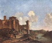 ASSELYN, Jan Italian Landscape with SS. Giovanni e Paolo in Rome oil on canvas