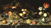 AST, Balthasar van der Flowers and Fruit  fg oil painting