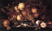 AST, Balthasar van der Still-life with Dish of Fruit  ffg oil painting