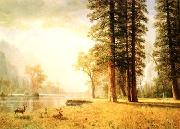 Albert Bierstadt Hetch Hetchy Valley painting