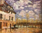 Alfred Sisley Boat During a Flood oil on canvas