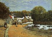 Alfred Sisley Early Snow at Louveciennes oil painting