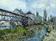 Alfred Sisley Provencher's Mill at Moret oil painting