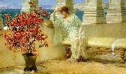 Alma Tadema Her Eyes are with Her Thoughts painting