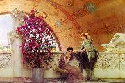 Alma Tadema Unconscious Rivals oil painting reproduction