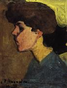 Amedeo Modigliani Head of a Woman in Profile painting