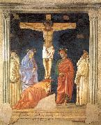 Andrea del Castagno Crucifixion and Saints oil on canvas