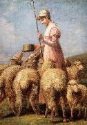 Anna Chamberlain Freeland Shepherdess oil on canvas