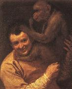 Annibale Carracci A Man with a Monkey oil painting artist