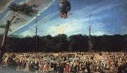 Antonio  Carnicero Balloon Ascent at Aranjuez oil on canvas