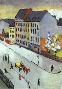 August Macke Our Street in Gray painting