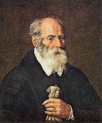BASSETTI, Marcantonio Portrait of an Old Man with Gloves 22 oil painting reproduction