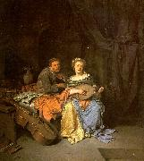 BEGA, Cornelis The Duet  hgg oil on canvas