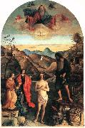 BELLINI, Giovanni Baptism of Christ ena oil painting reproduction