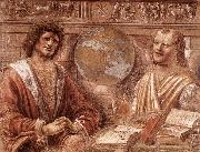BRAMANTE Heraclitus and Democritus fd painting