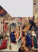 BROEDERLAM, Melchior The Annunciation and the Visitation d oil painting artist