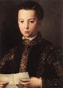 BRONZINO, Agnolo Portrait of Francesco I de Medici oil painting reproduction