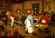 BRUEGEL, Pieter the Elder Peasant wedding fg oil painting reproduction