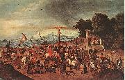BRUEGHEL, Pieter the Younger Crucifixion dgg oil painting reproduction