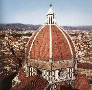 BRUNELLESCHI, Filippo Dome of the Cathedral  dfg oil