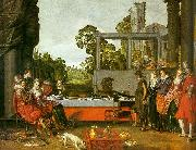 BUYTEWECH, Willem Banquet in the Open Air oil on canvas