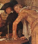 BUYTEWECH, Willem Merry Company (detail) oil on canvas