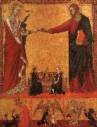 Barna da Siena The Mystical Marriage of St.Catherine oil painting reproduction