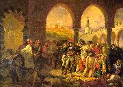 Baron Antoine-Jean Gros Napolean at Jaffa oil painting