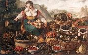CAMPI, Vincenzo The Fruit Seller oil on canvas