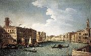 CANAL, Bernardo The Grand Canal with the Fabbriche Nuove at Rialto oil on canvas