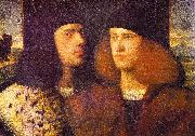 CARIANI Portrait of Two Young Men fd oil on canvas