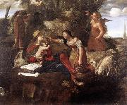 CAROSELLI, Angelo Rest on the Flight into Egypt dfg oil on canvas
