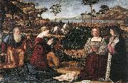 CARPACCIO, Vittore Holy Family with Two Donors painting