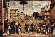 CARPACCIO, Vittore Funeral of St Jerome fg oil painting
