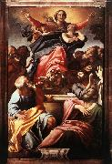CARRACCI, Annibale Assumption of the Virgin Mary dfg oil on canvas