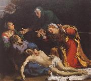 CARRACCI, Annibale Lamentation of Christ df oil on canvas