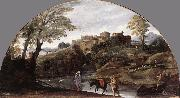 CARRACCI, Annibale The Flight into Egypt dsf oil on canvas