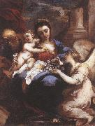 CASTELLO, Valerio Holy Family with an Angel fdg oil on canvas