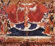 CHARONTON, Enguerrand The Coronation of Mary jkh oil on canvas