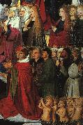 CHARONTON, Enguerrand The Coronation of the Virgin, detail: the crowd iyu oil on canvas