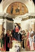 CIMA da Conegliano Madonna Enthroned with the Child dfg oil on canvas